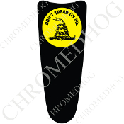 03-07 Ultra Classic CB Dash Insert Decal - Don't Tread Black