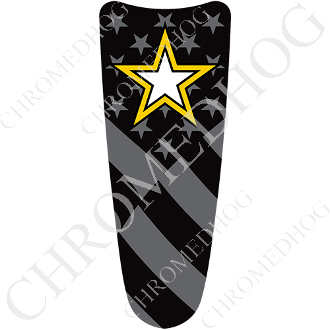 03-07 Ultra Classic CB Dash Insert Decal - Army Star Ghost Flag