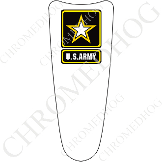 03-07 Ultra Classic CB Dash Insert Decal - Army Logo White