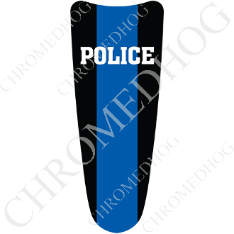 03-07 Ultra Classic CB Dash Insert Decal - Blue Line Police H