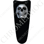 03-07 Ultra Classic CB Dash Insert Decal - Skull Chrome Black