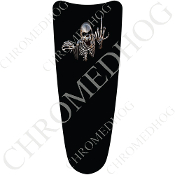 03-07 Ultra Classic CB Dash Insert Decal - Skeleton Black