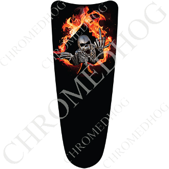 03-07 Ultra Classic CB Dash Insert Decal - Skeleton - Fire