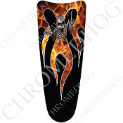 03-07 Ultra Classic CB Dash Insert Decal - Skeleton Flame Real/B