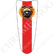 03-07 Ultra Classic CB Dash Insert Decal - Fire Fighter LNT RL W