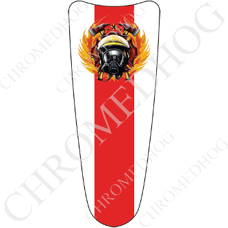 03-07 Ultra Classic CB Dash Insert Decal - Fire Fighter  - RL Wt