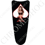 03-07 Ultra Classic CB Dash Insert Decal - Pin Up Lace SWB