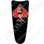 03-07 Ultra Classic CB Dash Insert Decal - Pin Up Lace SRB