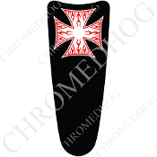 03-07 Ultra Classic CB Dash Insert Decal - Iron Cross RFWB