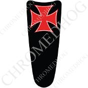 03-07 Ultra Classic CB Dash Insert Decal - Iron Cross Red/B