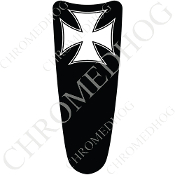 03-07 Ultra Classic CB Dash Insert Decal - Iron Cross White/B