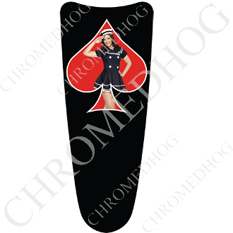 03-07 Ultra Classic CB Dash Insert Decal - Pin Up Spade - USNRB