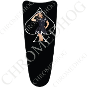 03-07 Ultra Classic CB Dash Insert Decal - Pin Up Navy SBB