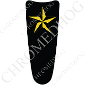 03-07 Ultra Classic CB Dash Insert Decal - Star Yellow/Black