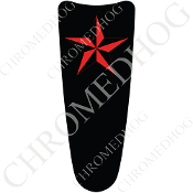 03-07 Ultra Classic CB Dash Insert Decal - Star Red/Black