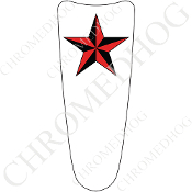 03-07 Ultra Classic CB Dash Insert Decal - Star Red/White