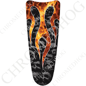 03-07 Ultra Classic CB Dash Insert Decal - Skull Flame - Real/Gy