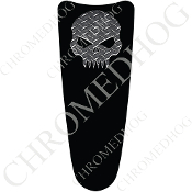 03-07 Ultra Classic CB Dash Insert Decal - Skull Evil DP/Black