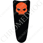 03-07 Ultra Classic CB Dash Insert Decal - Skull Evil Orange/B