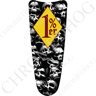 03-07 Ultra Classic CB Dash Insert Decal - Skull Pile - 1%YDR