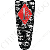 03-07 Ultra Classic CB Dash Insert Decal - Skull Pile - 1%RDS