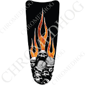 03-07 Ultra Classic CB Dash Insert Decal - Skull P on Rl Flame