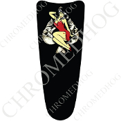 03-07 Ultra Classic CB Dash Insert Decal - Pin Up Skull Spade
