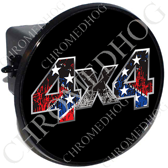 Tow Hitch Cover - 4x4 Rebel Flag Scratches