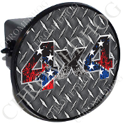 Tow Hitch Cover - 4x4 Rebel Flag Scratches/ DP