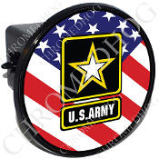Tow Hitch Cover - Army Logo - USA Flag