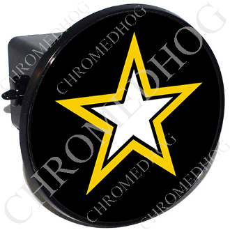 Tow Hitch Cover - Army Star - Black