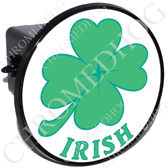 Tow Hitch Cover - Clover - Irish - White