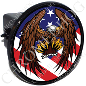 Tow Hitch Cover - Eagle - USA Flag