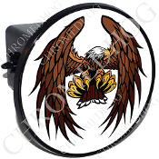 Tow Hitch Cover - Eagle - White