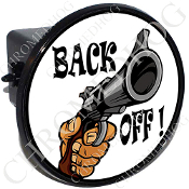 Tow Hitch Cover - Gun - Back Off!