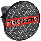 Tow Hitch Cover - Red Line - Fire Fighter - DP