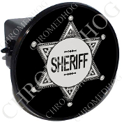 Tow Hitch Cover - Sheriff Badge - Black