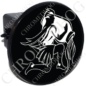 Tow Hitch Cover - Zodiac - Aquarius - W/B