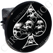 Tow Hitch Cover - Spade - Skull Pile - Black