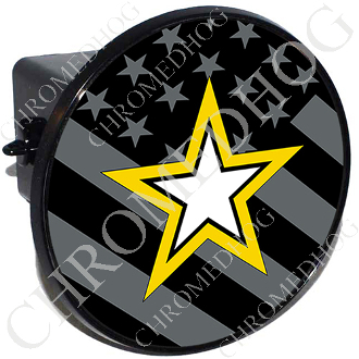 Tow Hitch Cover - Army Star - Ghost Flag