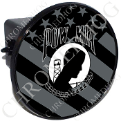 Tow Hitch Cover - POW*MIA - Ghost Flag