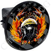 Tow Hitch Cover - Fire Fighter - Ghost Flag - NT