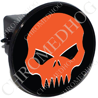 Tow Hitch Cover - Evil Skull - Orange/Black