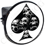 Tow Hitch Cover - Spade - Skull Pile - White