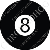 Premium Round Decal - 8 Ball
