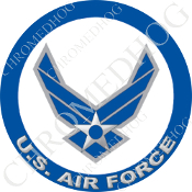 Premium Round Decal - USAF Air Force Logo - L1