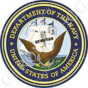 Premium Round Decal - USN Navy Dept