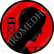 Premium Round Decal - POW*MIA Logo - Black/ Red