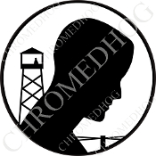 Premium Round Decal - POW*MIA Logo - Black/ White