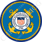 Premium Round Decal - Coast Guard
